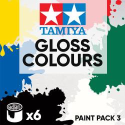 Tamiya Acrylic 10ml Paint Pack 3 - 6 Gloss Colours
