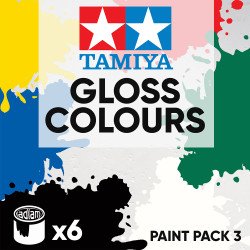 Tamiya Acrylic 10ml Paint Pack 3 - 6 Gloss Colours