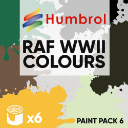 Humbrol 14ml Enamel Paint Pack 6 - 6 RAF WWII Colours