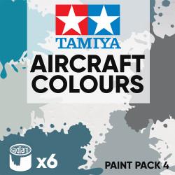 Tamiya Acrylic 10ml Paint Pack 4 - 6 Aircraft Colours