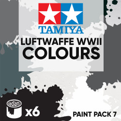 Tamiya Acrylic 10ml Paint Pack 7 - 6 Luftwaffe WWII Colours