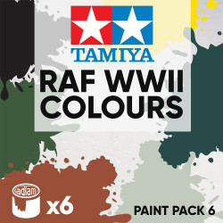 Tamiya Acrylic 10ml Paint Pack 6 - 6 RAF WWII Colours