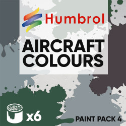 Humbrol 14ml Enamel Paint Pack 4 - 6 Aircraft Colours
