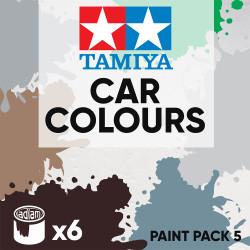 Tamiya Acrylic 10ml Paint Pack 5 - 6 Car Colours