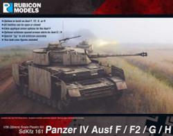 Rubicon Models 280077 Panzer Iv Ausf F/F1/G/H 1:56 Plastic Model Kit