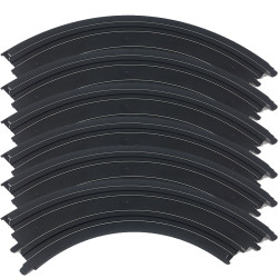 Micro Scalextric Track G105 - 90 Degree Bend - Plain - 6 Pieces