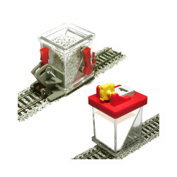 Proses PBS-HO-03 HO/OO Ballast Spreader Car & Ballast Glue Applicator Set