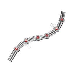 Proses PFT-N-01 N Flexible Track Holder N Gauge