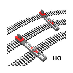 Proses PPT-HO-01 HO/OO Scale Adjustable Parallel Track Tool OO Gauge