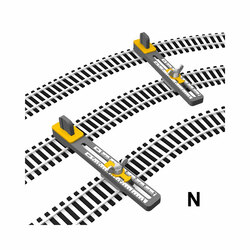 Proses PPT-N-01 N Scale Adjustable Parallel Track Tool N Gauge