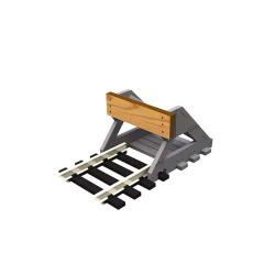 Proses PBF-N-01 2x N Scale Buffer Stop w/Wooden Bumper N Gauge