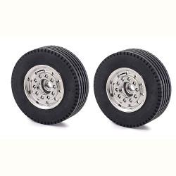 TAMIYA CARSON Parts Front Wheel Wide Chrome (2) C907061 500907061
