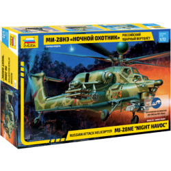 ZVEZDA Mil Mi-28ME HAVOC Russian Attack Helicopter 1:72 Plastic Model Kit Z7255