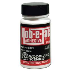 Woodland Scenics S195 Hob-E-Tac Adhesive 2 Oz Scenic Brush Foliage Landscaping