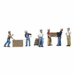 Woodland Scenics A1823 Dock Workers HO OO Gauge Figures Landscaping