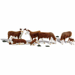 Woodland Scenics A1843 Hereford Cows HO OO Gauge Figures Landscaping