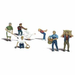 Woodland Scenics A1857 Farm People HO OO Gauge Figures Landscaping