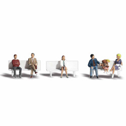Woodland Scenics A1861 Bus Stop People HO OO Gauge Figures Landscaping