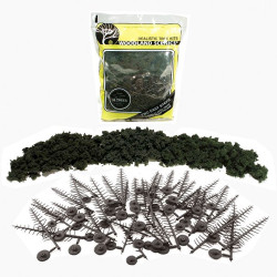 """Woodland Scenics TR1113 2½""""-6""""Forest Green Trees 24/Kit Landscaping Landscaping"""