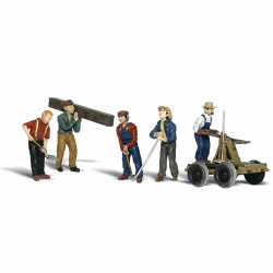 Woodland Scenics A1898 Rail Workers HO OO Gauge Figures Landscaping