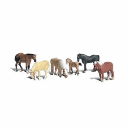 Woodland Scenics A2141 Farm Horses N Gauge Figures Animals & Vehicles Landscaping