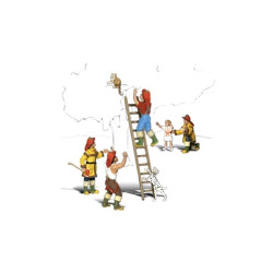 Woodland Scenics A2151 Firemen To The Rescue N Gauge Figures Animals & Vehicles