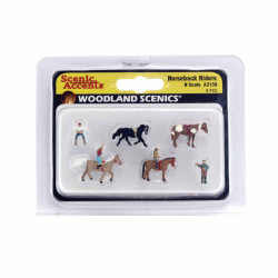 Woodland Scenics A2159 Horseback Riders N Gauge Figures Animals & Vehicles