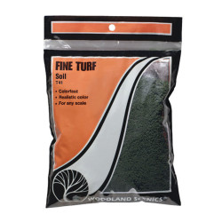 Woodland Scenics T41 Soil Fine Turf Bag Scenic Brush Foliage Landscaping