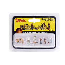 Woodland Scenics A2173 Masonry Workers N Gauge Figures Animals & Vehicles
