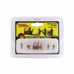 Woodland Scenics A2192 Workers With Forklift N Gauge Figures & Vehicles