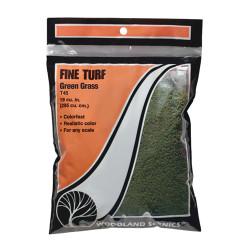 Woodland Scenics T45 Green Grass Fine Turf Bag Scenic Brush Foliage Landscaping