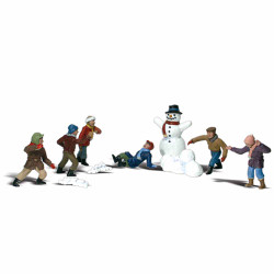 Woodland Scenics A1894 Snowball Fight HO OO Gauge Figures Landscaping