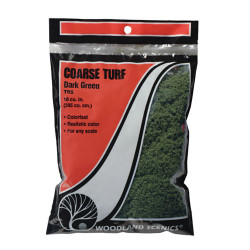 Woodland Scenics T65 Dark Green Coarse Turf Bag Scenic Brush Foliage Landscaping