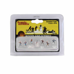 Woodland Scenics A2183 Snowball Fight N Gauge Figures Animals & Vehicles