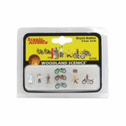 Woodland Scenics A2194 Bicycle Buddies N Gauge Figures Animals & Vehicles