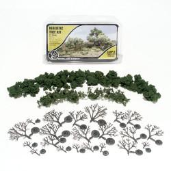"Woodland Scenics TR1111 ¾""-3"" Medium Green Deciduous Trees 21/Kit Landscaping"
