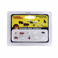 Woodland Scenics A2202 Barnyard Animals N Gauge Figures Animals & Vehicles