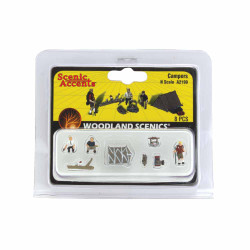 Woodland Scenics A2199 Campers N Gauge Figures Animals & Vehicles Landscaping