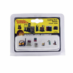 Woodland Scenics A2208 Loading Dock Details N Gauge Figures Animals & Vehicles