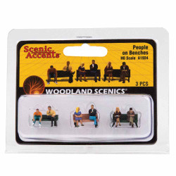 Woodland Scenics A1924 People On Benches HO OO Gauge Figures Landscaping