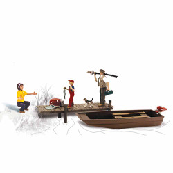 Woodland Scenics A1923 Family Fishing HO OO Gauge Figures Landscaping