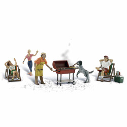 Woodland Scenics A1929 Backyard Barbeque HO OO Gauge Figures Landscaping