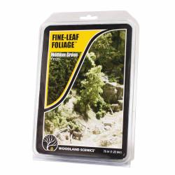 Woodland Scenics F1131 Medium Green Fine Leaf Foliage Scenic Brush Flock