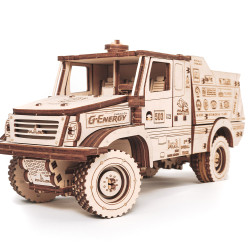 Eco Wood Art - MAZ 6440RR Mechanical Wooden Model Kit No Glue Required