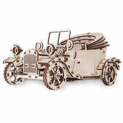 Eco Wood Art - Retro-Car Mechanical Wooden Model Kit No Glue Required