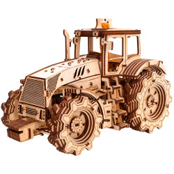 Eco Wood Art - Tractor Mechanical Wooden Model Kit No Glue Required