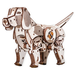 Eco Wood Art - Puppy Mechanical Wooden Model Kit No Glue Required