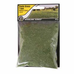 Woodland Scenics FS622 7mm Static Grass Medium Green Scenic Brush Foliage Flock