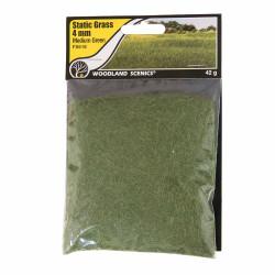 Woodland Scenics FS618 4mm Static Grass Medium Green Scenic Brush Foliage Flock