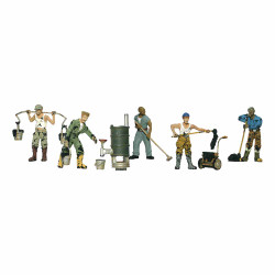 Woodland Scenics A1828 Roofers HO OO Gauge Figures
